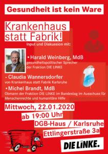 Krankenhaus statt Fabrik @ DGB-Haus Karlsruhe